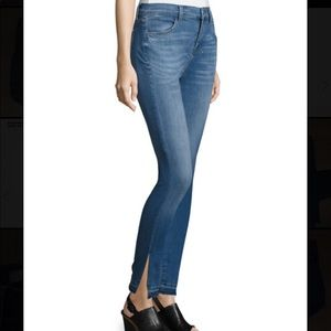 J Brand High Rise Skinny Side Slit Jeans